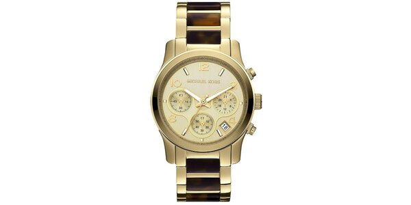 Dámske analógové hodinky z pozlátenej ocele Michael Kors