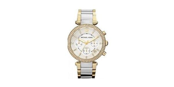 Dámske hodinky z ušľachtilej ocele so zirkónmi Michael Kors