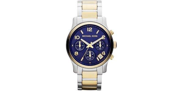 Dámske analógové hodinky s modrým ciferníkom Michael Kors