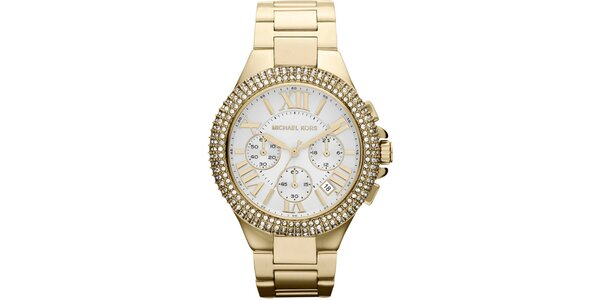 Dámske pozlátené hodinky z ušľachtilej ocele Michael Kors