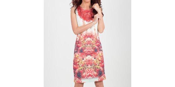 Dámske biele šaty s kvetinovým vzorom Chaser