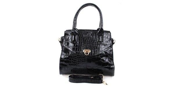 Dámska čierna kabelka s popruhom Mercucio