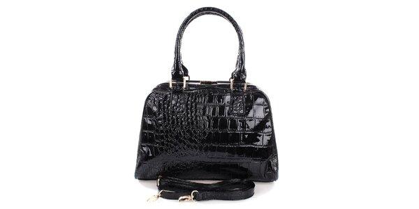 Dámska čierna kufríková kabelka Mercucio