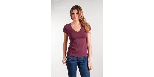 Dámske vínové tričko Calvin Klein