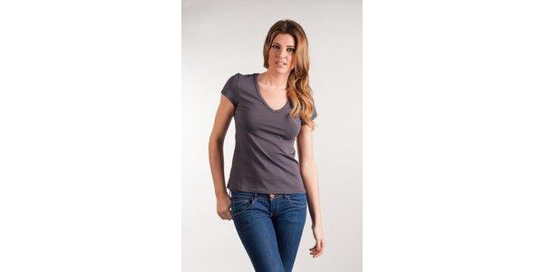 Dámske šedé tričko Calvin Klein