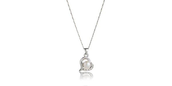 Dámsky náhrdelník Swarovski Elements s perlou a kryštálmi