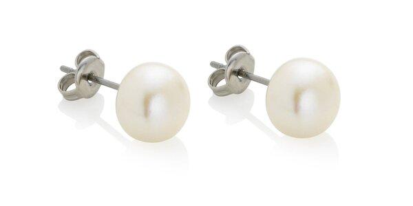 Dámské perlové náušníce Swarovski Elements
