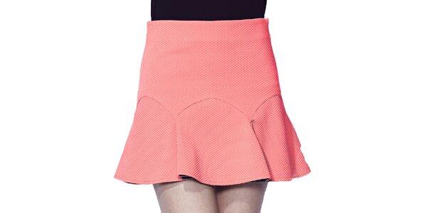 Dámska korálovo ružová krátka sukňa Liquorish