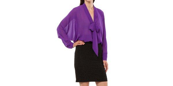 Dámske fialovo-čierne šaty Liquorish
