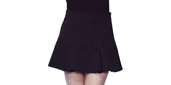 Dámska krátka čierna sukňa Liquorish