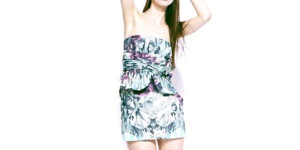 Dámske farebné šaty bez ramienok Liquorish