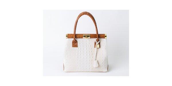Dámska kufríková kabelka s krokodílim vzorom Pelleteria