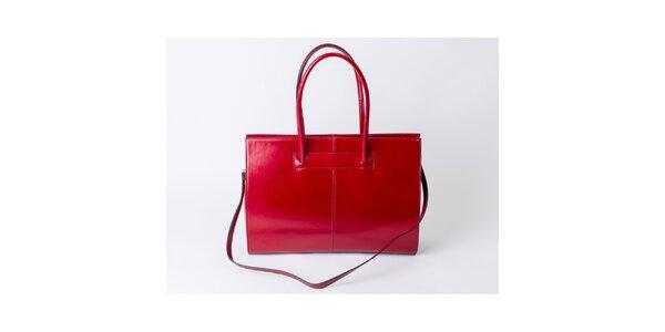 Dámska červená kabelka z kože Pelleteria