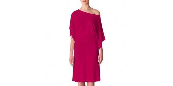 Dámske čerešňovo-ružové šaty s voľným ramenom Yuliya Babich