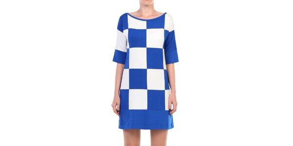 Dámske modro-biele kockované šaty Yulia Babich
