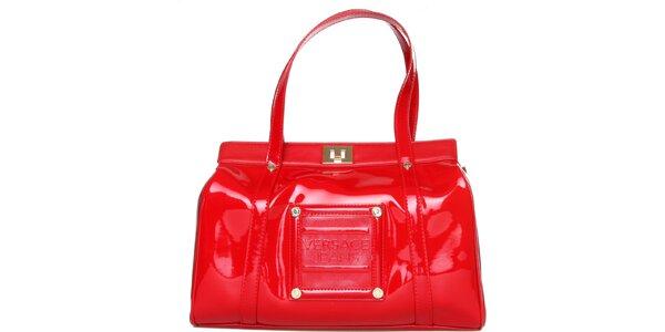 Dámska červená lakovaná kabelka Versace Jeans