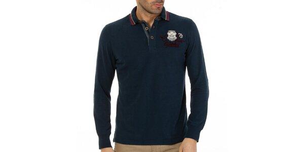 Pánske tmavo modré polo tričko Galvanni