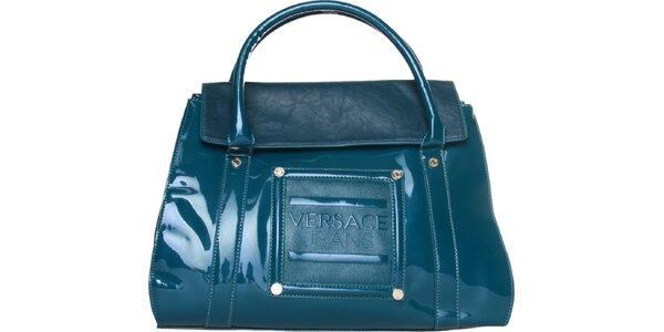 Dámska tyrkysová lakovaná kabelka Versace Jeans