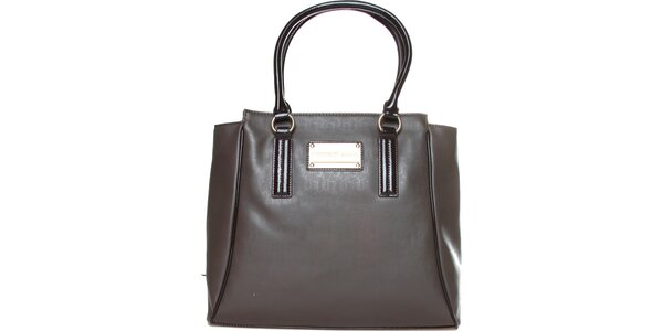 Dámska šedo-hnedá kabelka Versace Jeans