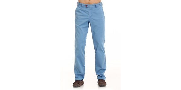 Pánske modré plátené nohavice Galvanni