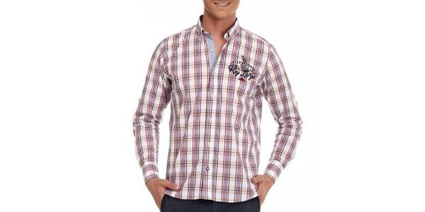 Pánska farebná károvaná košeľa Galvanni