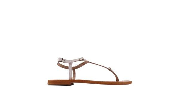 Dámske kožené sandále v bielej farbe les Tropeziennes