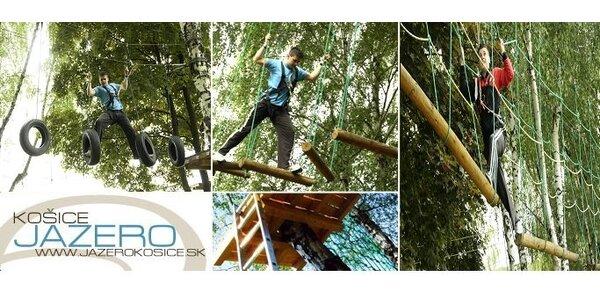 1,90 € za vstup na 1 okruh lanového centra JAZERO v Košiciach so zľavou 51%!