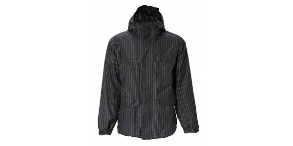 Pánska čierna prúžkovaná bunda Fundango s membránou