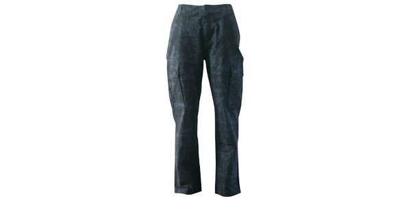 Pánske tmavo šedé maskáčové nohavice Fundango