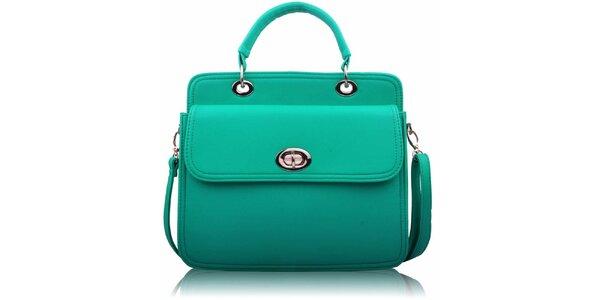 Dámska zelenkavá kabelka so zámočkom Nubiz