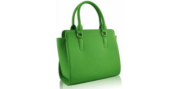 Dámska žiarivo zelená kabelka Nubiz