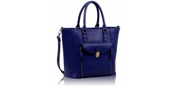 Dámska modrá kabelka so zipsami Nubiz