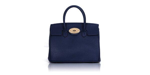 Dámska modrá kabelka s dvomi ušami Nubiz
