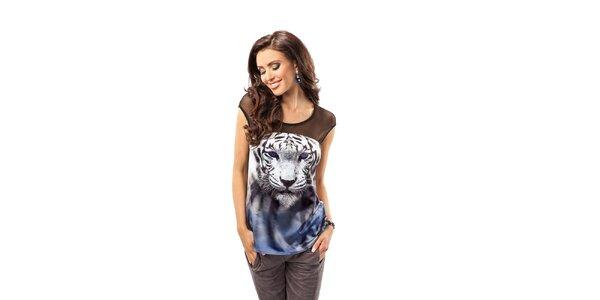 Dámsky top s obrázkom tigra Enny