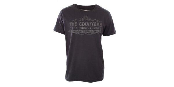 Pánske tmavo šedé tričko Goodyear
