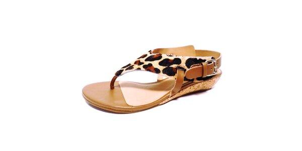 Dámske sandálky s leopardím vzorom Via Uno