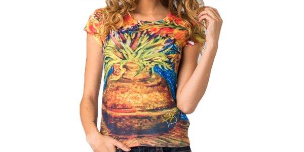 Dámske tričko s farebnou potlačou Seven LA