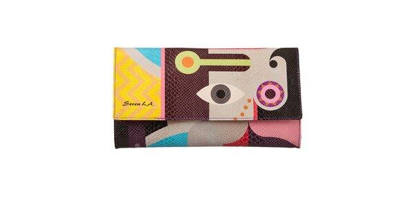 Dámska listová kabelka s farebnou potlačou Seven LA