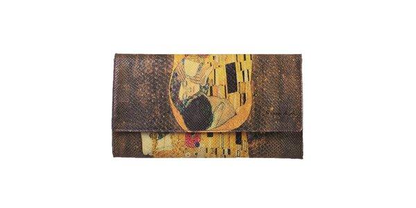 Dámska listová kabelka s motívom obrazu Bozk Seven LA