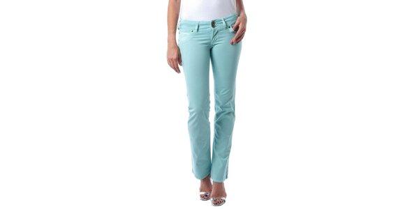 Dámske tyrkysovo zelené džínsy Seven LA