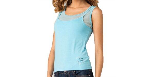 Dámsky tyrkysový top s transparentnými ramenami Seven LA