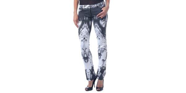 Dámske čierno-biele nohavice Seven LA