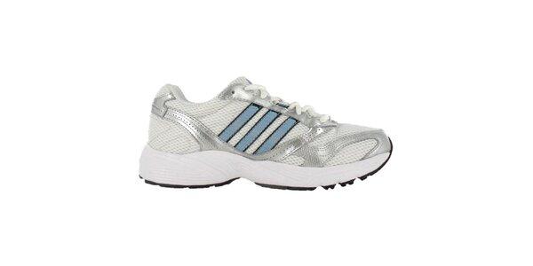 Pánske bielo-strieborno-svetlo modré tenisky Adidas
