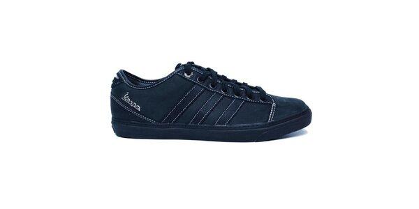 Pánske čierne prešívané tenisky Adidas