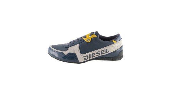 Pánske modro-šedo-žlté tenisky Diesel