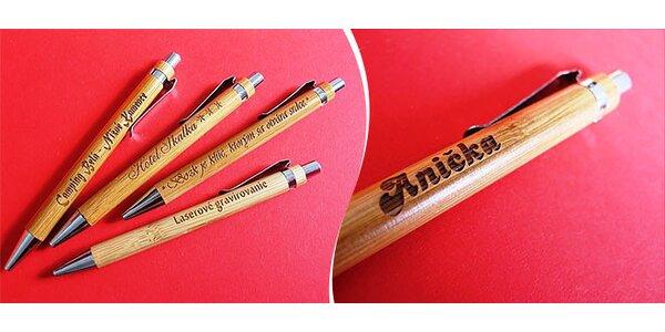 Drevené pero s vlastným nápisom