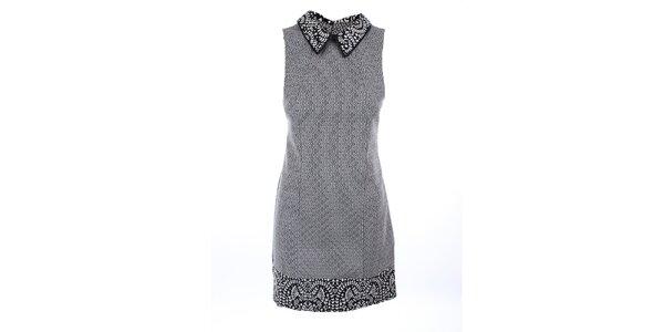 Dámske čierno-biele šaty bez rukávov Melli London