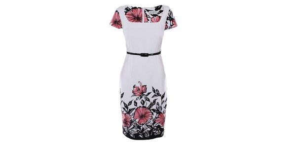 Dámske biele šaty s potlačou Melli London
