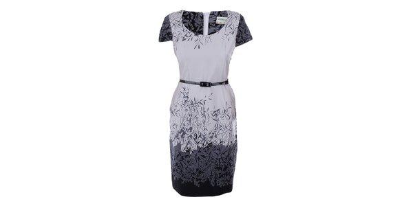 Dámske šaty s šedo-čiernou potlačou Melli London
