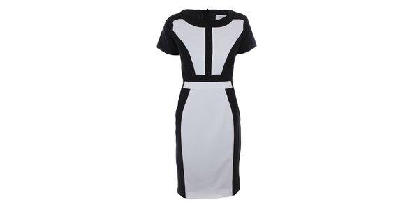 Dámske čierno-biele šaty Melli London